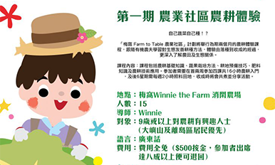 Agriculture Community Farming Experience Course (1st season)