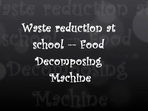 《Waste Reduction At School》